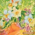 Абрис Арт АС-006 Девушка Весна. Рисунок на холсте