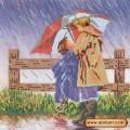 Абрис Арт АС-137 Под зонтиком. Рисунок на холсте