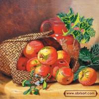 Абрис Арт АС-161 Корзина с яблоками. Рисунок на холсте