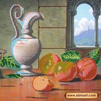 Абрис Арт АС-168 Спелые яблоки. Рисунок на холсте