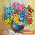 Абрис Арт АС-194 Луговые цветы. Рисунок на холсте