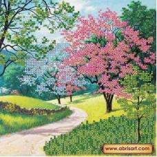 Схема для вышивания АС-418 Цветущий парк. Рисунок на холсте