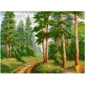 Алмазная живопись АЖ-1038 В сосновом лесу