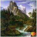 Алмазная живопись АЖ-1138 Река у подножья горы