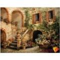 Алмазная живопись АЖ-1155 Испанский дворик