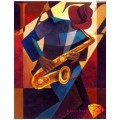 Алмазная живопись АЖ-1178 Саксофонист