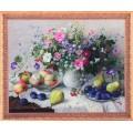 Алмазная живопись АЖ-1196 Цветочно-фруктовый натюрморт