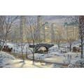 Алмазная живопись АЖ-1281 Зима в Нью-Йорке