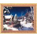 Алмазная живопись АЖ-1289 Новый год в деревне