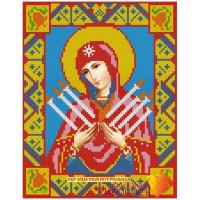 Алмазная живопись АЖ-2009 Икона Семистрельная Богородица
