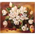 Алмазная живопись АЖ-281 Букет белых цветов