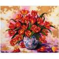 Алмазная живопись АЖ-318 Тюльпаны в вазе