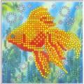 Искусница ББ-006 Золотая рыбка. Схема-мини на иск.шелке