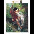 Искусница ББ-422 Весна. По мотивам картины Пьера Огюста Кота. Схема на иск.шелке