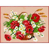 Каролинка КБЦ 4013 (А/Ч) Маки и ромашки
