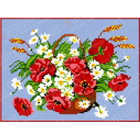 Каролинка КБЦ 4013 (С/Ч) Маки и ромашки