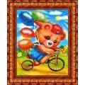 Каролинка КБЖ 5007 Мишка на велосипеде