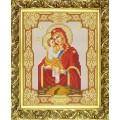 Конёк НИК 9115 Богородица Почаевская. Схема для вышивания бисером