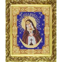 Конёк НИК9118 Богородица Остробрамская. Схема для вышивания бисером