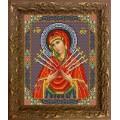 Конёк НИК9211 Богородица Семистрельная. Схема для вышивания бисером