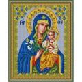 Конёк НИК 9216 Богородица Неувядаемый цвет. Схема для вышивания бисером