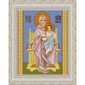 Конёк НИК 9227 Богородица на престоле. Схема для вышивания бисером