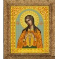 Конёк НИК 9232 Богородица Помощница в родах. Схема для вышивания бисером