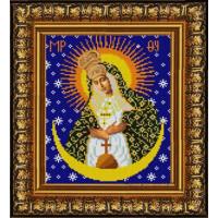 Конёк НИК 9237 Богородица Остробрамская. Схема для вышивания бисером