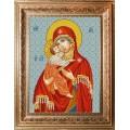 Конёк НИК 9247 Богородица Владимирская. Схема для вышивания бисером