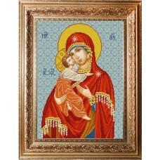 Схема для вышивания НИК 9247 Богородица Владимирская. Схема для вышивания бисером