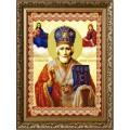 Конёк НИК9256 Св. Николай Мирликийский Чудотворец. Схема для вышивания бисером