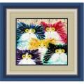 Конёк НИК 9458 Мартовские коты. Схема для вышивания бисером