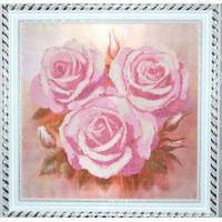 Конёк НИК 9515 Розовые розы. Схема для вышивания бисером