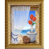 Конёк НИК 9629 Вид на море. Схема для вышивания бисером