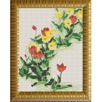 Конёк НИК 9637 Тюльпаны. Схема для вышивания бисером