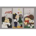 Конёк НИК 9643 Триптих Любовь. Схема для вышивания бисером