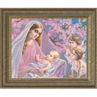 Конёк НИК 9649 Мадонна с младенцем. Схема для вышивания бисером