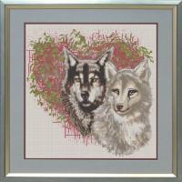 Конёк НИК 9656 Волки. Схема для вышивания бисером