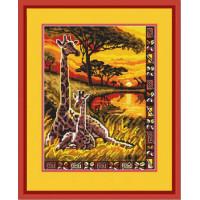 Конёк НИК 9704 Жирафы. Схема для вышивания бисером