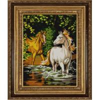 Конёк НИК 9705 Пара лошадей. Схема для вышивания бисером