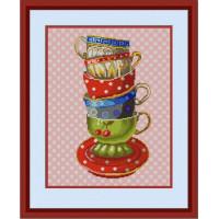 Конёк НИК 9714 Чашки. Схема для вышивания бисером