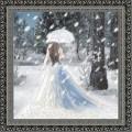 Конёк НИК 9717 Леди Зима. Схема для вышивания бисером