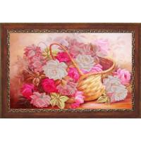 Конёк НИК9723 Корзина с розами. Схема для вышивания бисером