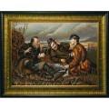 Конёк НИК 9774 Охотники на привале (В.Перов). Схема для вышивания бисером