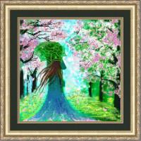 Конёк НИК 9777 Леди Весна. Схема для вышивания бисером