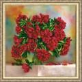 Конёк НИК 9782 Красные пионы. Схема для вышивания бисером