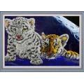 Конёк НИК 9793 Тигрята. Схема для вышивания бисером