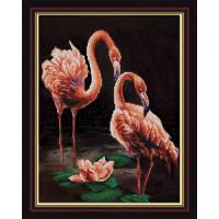 Конёк НИК 9835 Фламинго. Схема для вышивания бисером