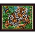 Конёк НИК 9836 Тигры. Схема для вышивания бисером