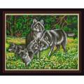 Конёк НИК 9838 Волчья семья. Схема для вышивания бисером